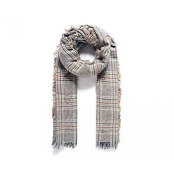 Intrigue Womens/Ladies Long Checked Woven Scarf