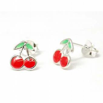 The Olivia Collection Sterling Silver Cherry Stud Earrings