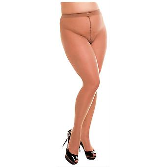 Glamory satin 20 denier Sheer collants-make up beige