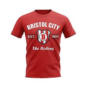 Bristol City Established Football T-Shirt (Red)