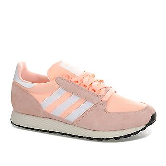 Womens adidas Originals Forest Grove Trainers In Clear Orange