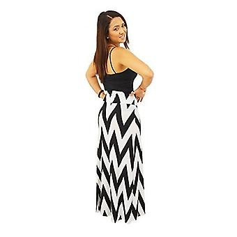 Dbg  women's chevron maxi full length skirts