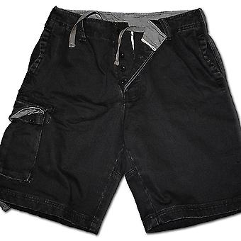 Spiral Direct Gothic METAL STREETWEAR - Vintage Cargo Shorts Black|Metal