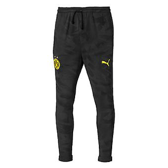 2019-2020 Borussia Dortmund Puma Casual Sweat Pants (Black)
