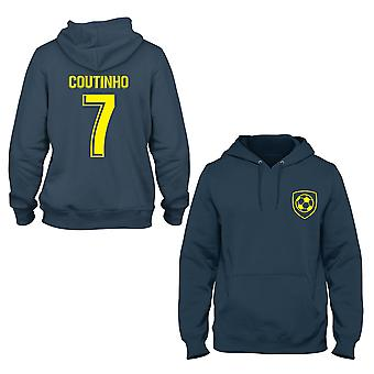 Philippe Coutinho 7 Barcelone Style Player Hoodie