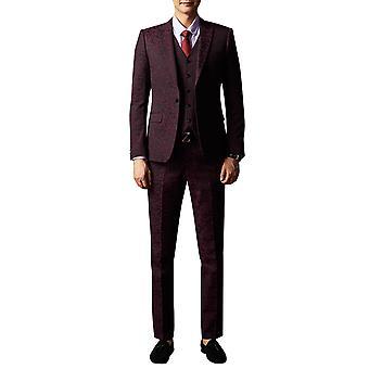 Allthemen Mens 3pcs Silm fit Floral 3 Pieces Suit( Blazer &Vest &Pants )