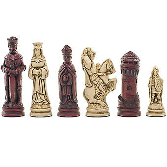 Berkeley Chess Camelot Cardinal Chess Men