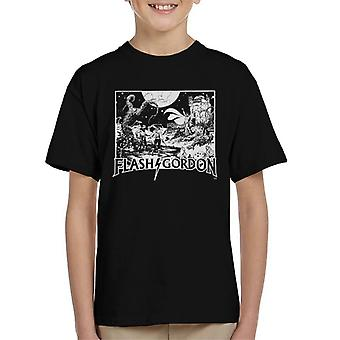 Flash Gordon Princess Aura Face Off Kid's T-Shirt