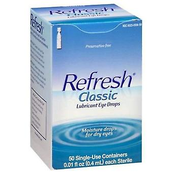 Refresh classic lubricant eye drops, single-use containers, 50 ea