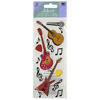 Touch Of Jolee's Dimensional Sticker Guitars & Music Notes E5010023