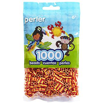 Perler Fun Fusion Striped Beads 1000 Pkg Fire Psbb05 15112
