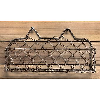 Wide Wire Basket with Screws 9