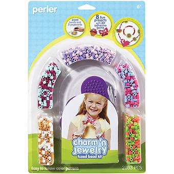 Perler Fun Fusion Fuse Bead Activity Kit Pink Jewelry P559 79