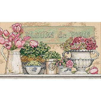 Flowers Of Paris Counted Cross Stitch Kit 14
