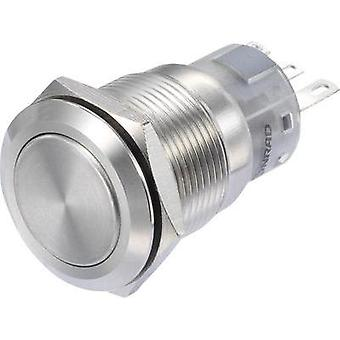 Pushbutton switch 250 Vac 3 A 1 x On/On TRU COMPONENTS