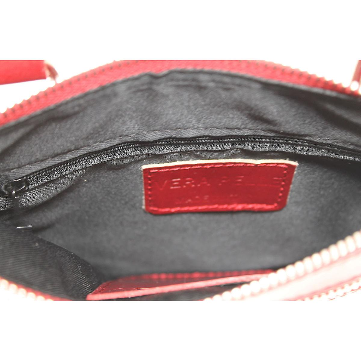 CTM small shoulder bag made of genuine leather made in italy