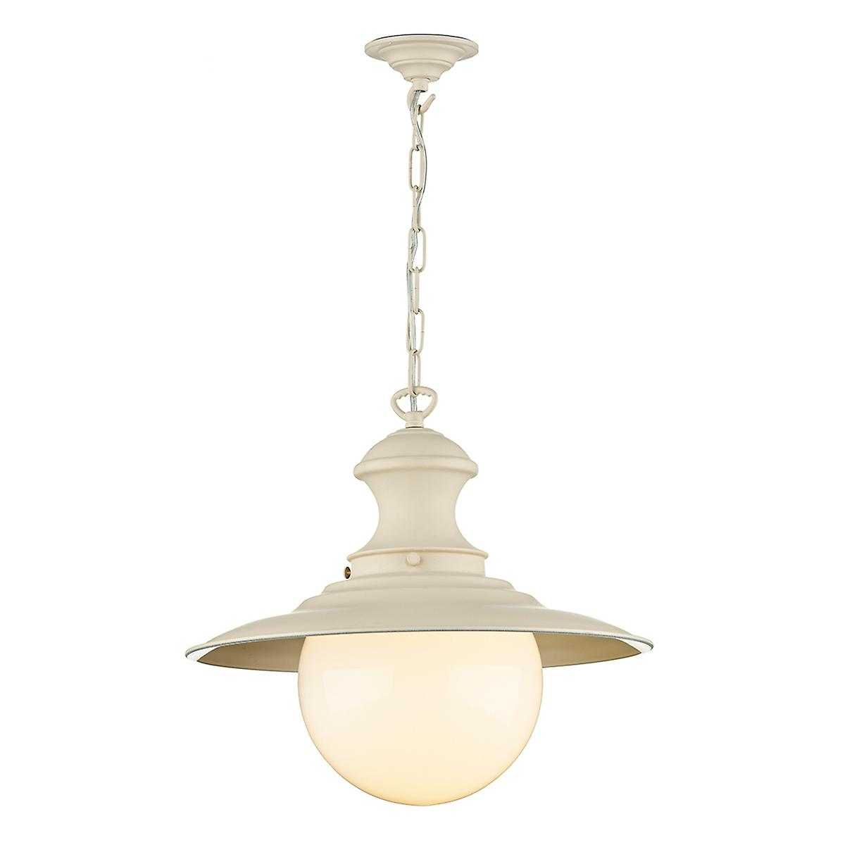 David Hunt EP33 Station Large Pendant Lamp In Cotswold Cream