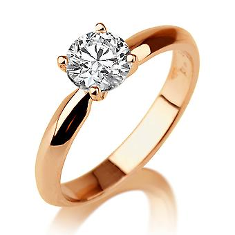 1.50 CT 7.50MM Forever One Moissanite Engagement Ring Colorless VVS14K Rose Gold