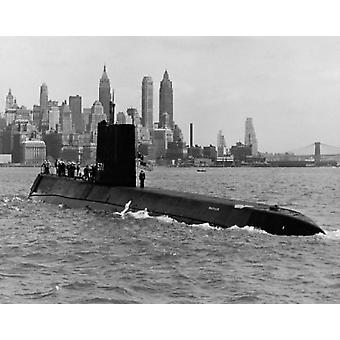 Submarine in the sea USS Nautilus (8 x 10) Nuclear-Powered Submarine New York City New York State USA Poster Print (8 x 10)
