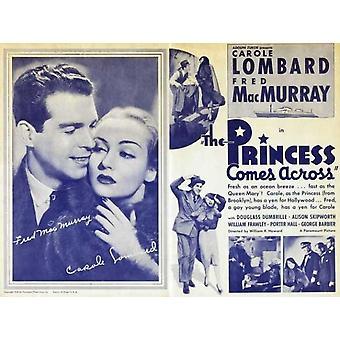 Prinsessen kommer over film plakatutskrift (27 x 40)