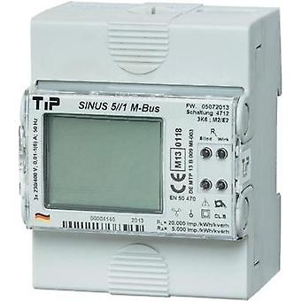 Electricity meter (3-phase) incl. converter jack digital MID-approved: Yes TIP SINUS 5//1 M-BUS