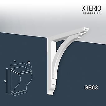White console ORAC decor GB03 XTERIO wall bracket for canopy Zierlement timeless classic design