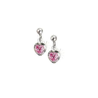 Scout Children earrings pierced earrings silver heart pink girl 262147100