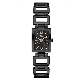 s.Oliver ladies watch wrist watch SO-3065-MQ IP-black