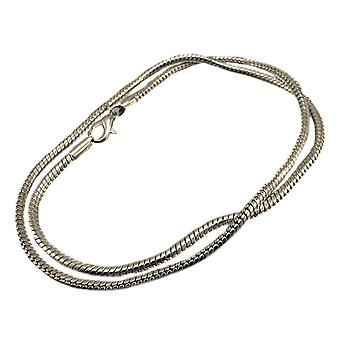 Chrome Plated 18 Inch Snake Link Necklace Chain