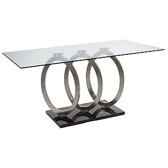 Wellindal Mesa comedor circles acero (Home , Living and dining room , Tables , Central)