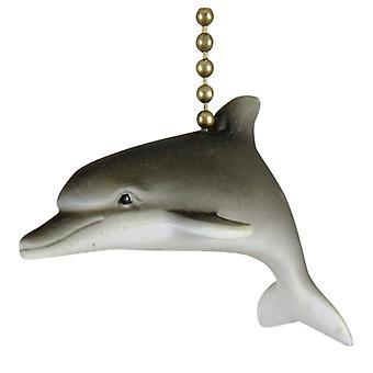 Tropical Dolphin Porpoise Ocean Life Fan Light Pull