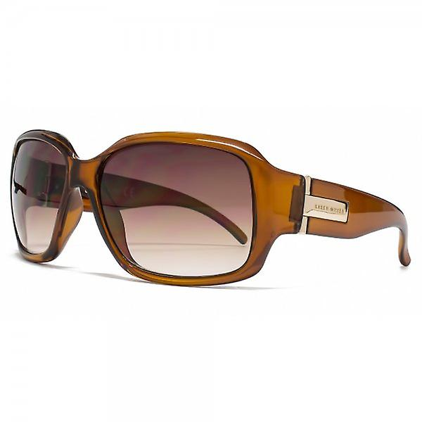 Karen Millen Glamourous Square Sunglasses In Crystal Brown