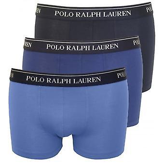 Polo Ralph Lauren Cotton Stretch Triple Pack Boxershort, die Blues