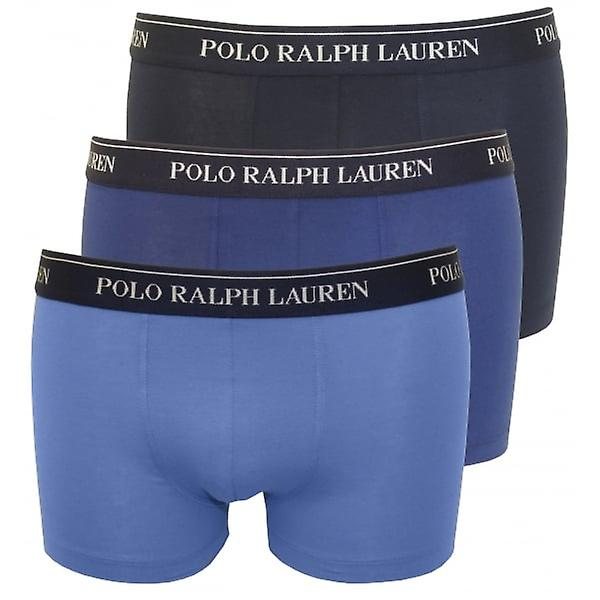 Polo Ralph Lauren Cotton Stretch Triple Pack Boxer Trunks, The Blues