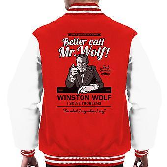 Bedre ringe Mr. Wolf Pulp Fiction menn Varsity jakke