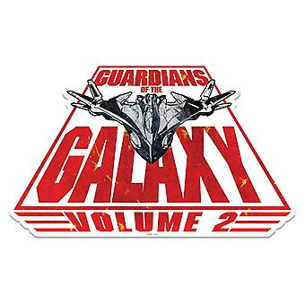 Spaceship Milano Guardians of The Galaxy Vol. 2 3D Effect Cardboard Cutout Wall Art