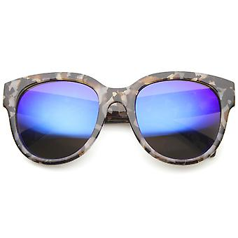 Womens Cat Eye solglasögon med UV400 skyddat speglad lins