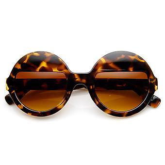 جفن أزياء المرأة نصف عدسة الجولة النظارات الشمسية