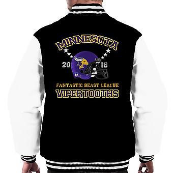 Phantastische Tierwesen Liga Minnesota Vipertooths Helme Männer Varsity Jacket