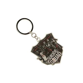 DC Comics Suicide Squad The Squad Printed Shield Keychain Multi-colour