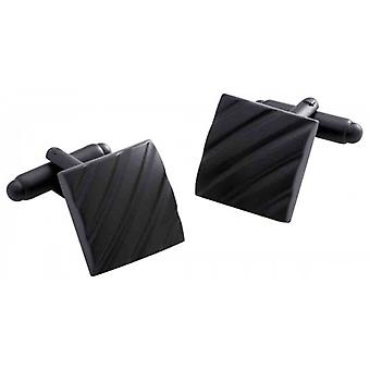 Duncan Walton Clough Cufflinks - Matte Black