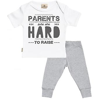 Spoilt Rotten Parents Hard To Raise Baby T-Shirt & Baby Jersey Trousers Outfit Set
