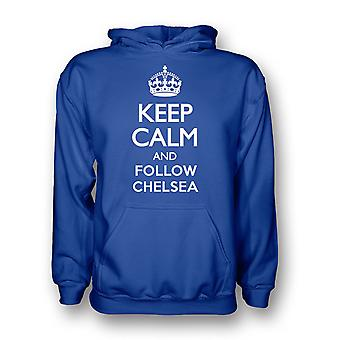 Keep Calm And Follow Chelsea Hoody (blue) - Kids