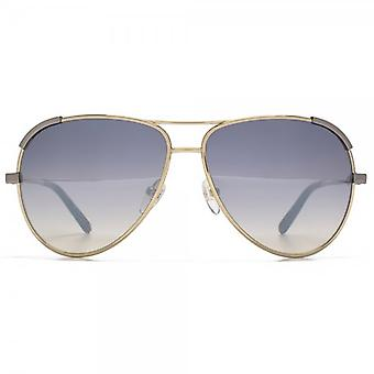 Chloe Eria Pilot Sunglasses In Gold Blue