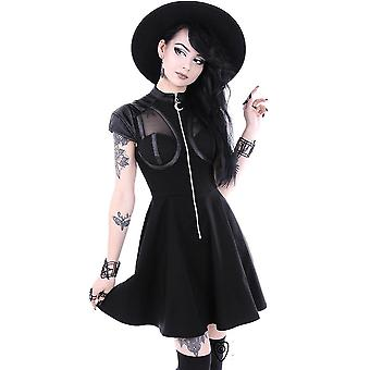 Restyle - FUTURE GOTH  DRESS - Gothic Dress, Moon Zipper
