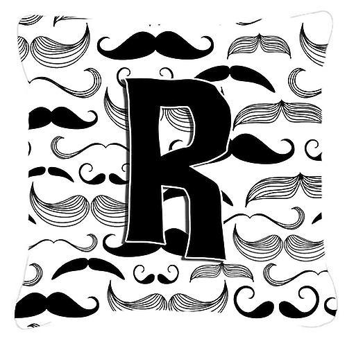 Toile Tissu Moustache Initiale Décoratif R Lettre Oreiller rxdoBeCW