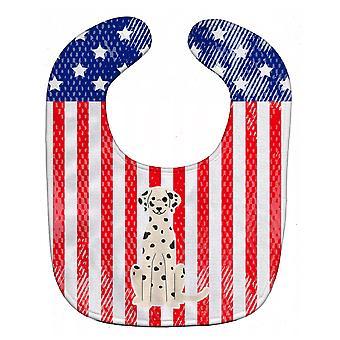 Carolines Treasures  BB3092BIB Patriotic USA Dalmatian Baby Bib
