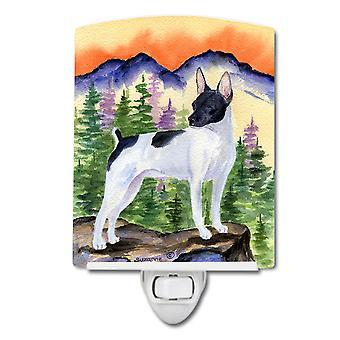 Carolines Treasures  SS8224CNL Rat Terrier Ceramic Night Light