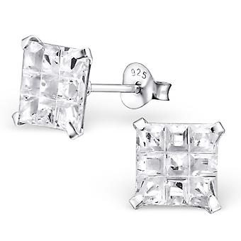 Square - 925 Sterling Silver Classic Ear Studs