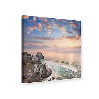 Canvas Print Romantic Sunset By The Sea